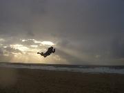 Powerkiten am Strand von Westerland